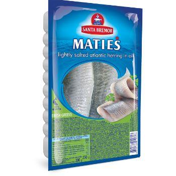 Siļķu fileja Matias ar zaļumiem Santa Bremor 250g