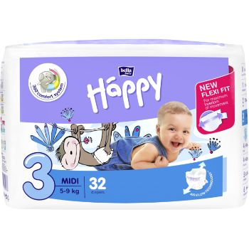 Autiņbiksītes Happy Midi 5-9kg 32gb