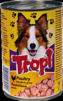 Konservi sunim Tropi ar mājputnu gaļas mērci 0.415g