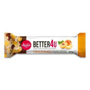 Batoniņš graudaugu Better 4U ar aprikozēm Laima 40g