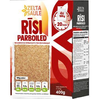 Rīsi Parboiled Zelta Saule 4*100g