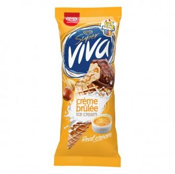 Saldējums Super Viva Cream brulee konuss 220ml