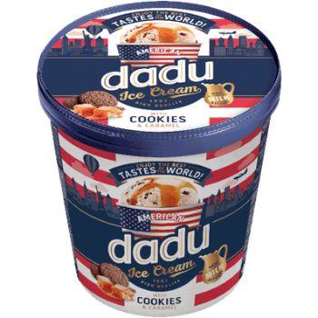 Saldējums Dadu ar karameli un cepumiem 400ml/245g