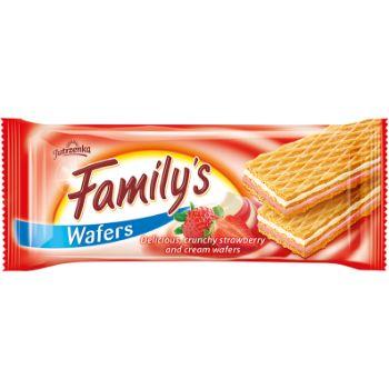 Vafeles Family zemeņu/krējuma 180g