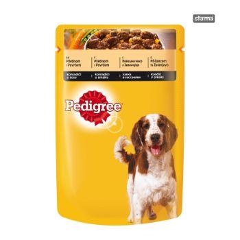 Barība suņiem Pedigree ar vistas gaļu un dārzeņiem 100g
