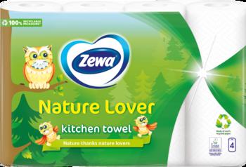 Papīra dvieļi Zewa Nature Lover Pūce 4ruļļi