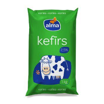 Kefīrs Alma 2.5% 1kg polipaka