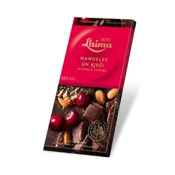Šokolāde tumšā ar ķiršiem un mandelēm 100g
