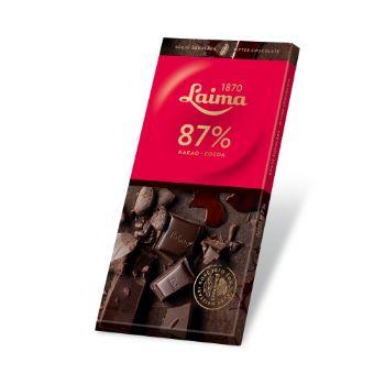 Šokolāde rūgtā Laima 87% melna 100g