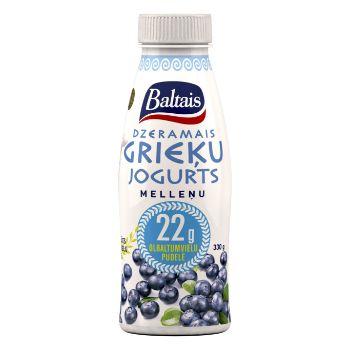 Jogurts Grieķu dzeramais melleņu 330g