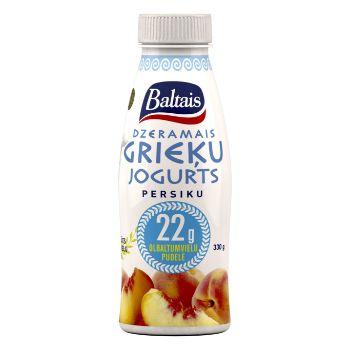 Jogurts Grieķu dzeramais persiku 330g