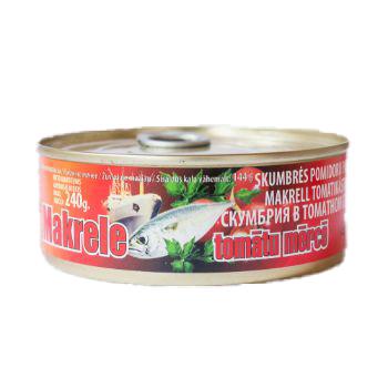 Makrele tomātu mērcē 240g/144g