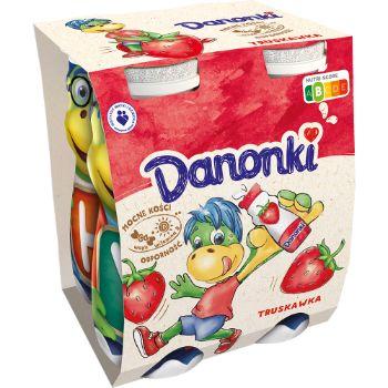 Dzeramais jogurts Danonki ar zemeņu garšu 4x100g