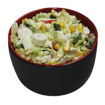 Salāti krabju ar dārzeņiem