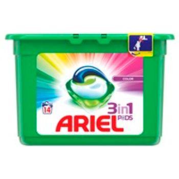 Veļas mazgāšanas kapsulas Ariel Color 3in1 14gb