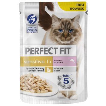 Barība kaķiem Perfect Fit maigs lasis 85g