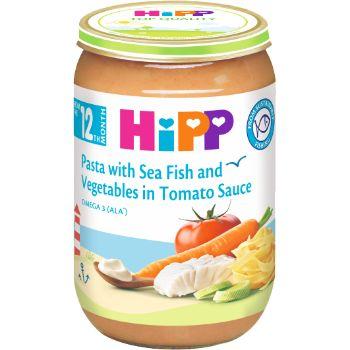 Biezenis Hipp zivis ar tomātiem un nūdelēm 220g