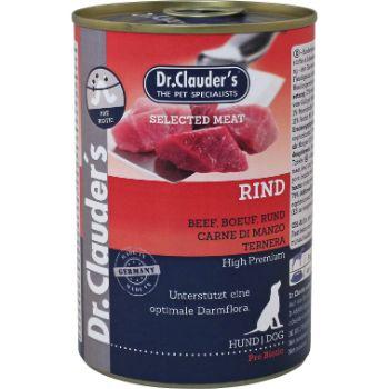 Barība suņiem Dr.Clauder's ar jaunlopa gaļu konservs 400g
