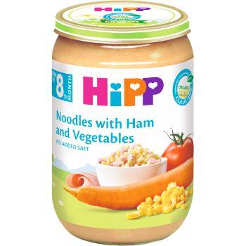 Biezenis Hipp nūdeles ar šķiņķi-dārzeņiem 220g