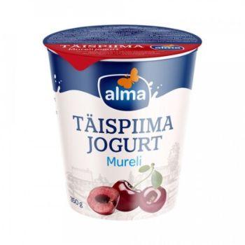 Jogurts pilnpiena Alma ar saldajiem ķiršiem 350g