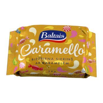 Biezpiena sieriņš Baltais Caramello 38g