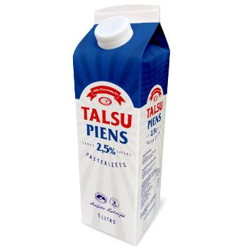 Piens Talsu 2.5% tetra ar korķi 1l