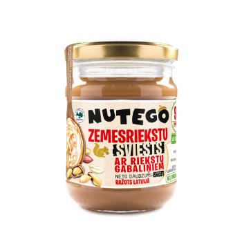 Zemesriekstu sviests Nuteko ar riekstu gabaliņiem 250g