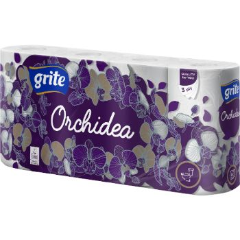 Tualetes papīrs Grite Orchidea 3slāņi 8ruļļi