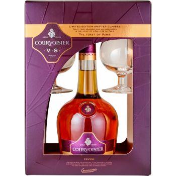 Konjaks Courvoisier VS 40% 0.7l+2 glāzes