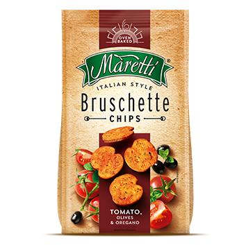 Sausmaizītes Bruschette ceptas ar tomātu