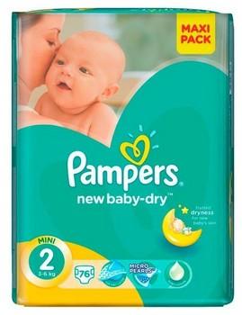 Autiņbiksītes Pampers active baby S2 76gb VPP