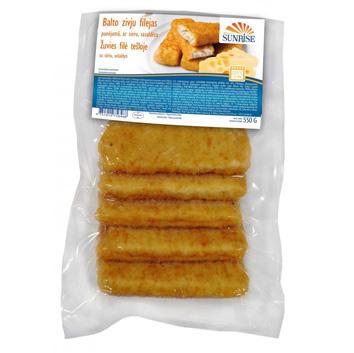 Balto zivju fileja sald. De Lux ar sieru 550g