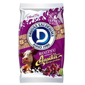 Saldējums Druva vaniļas ar rozīnēm 130ml/75g