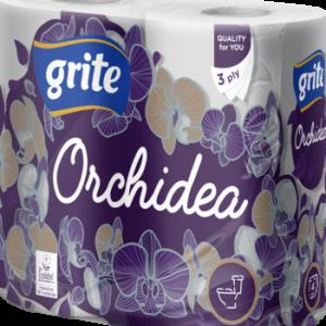 Tualetes papīrs Grite Orchidea 3slāņi 4ruļļi