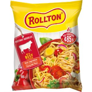 Nūdeles Rollton ar liellopu gaļas garšu 85g