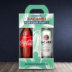 Rums Bacardi carta Blanca 37.5% 0.7l+ Coca Cola 1l