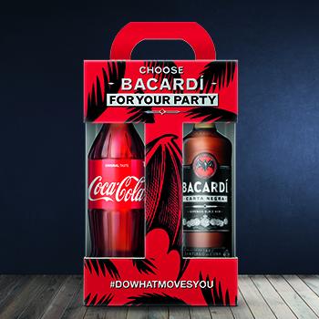 Rums Bacardi Carta Negra 40% 0.7l + Coca cola