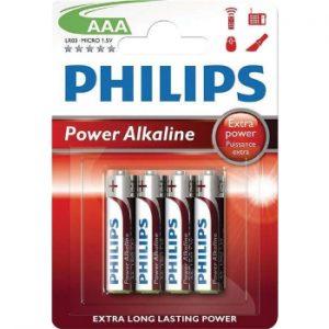 Baterija Philips AAA 4gb