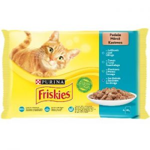 Barība kaķiem Friskies konservi zivju izlase 4*85g
