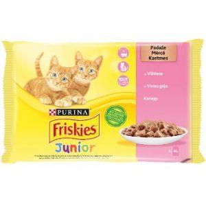 Barība kaķiem Friskies juniors vistas 4*85g