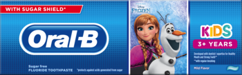 Zobu pasta Oral-B Frozen&Cars 3+ 75ml