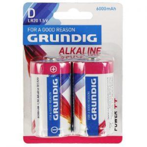 Baterija Grundig Alkaline D 2gb