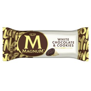 Saldējums Magnum White Chocolate & Cookies 90ml/74g