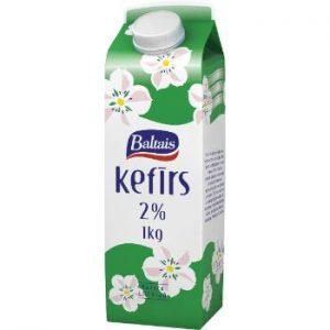 Kefīrs Baltais Tukums 2% 1l kartonā