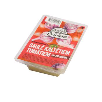 Siers Cesvaines ar tomātiem un ķiplokiem 200g