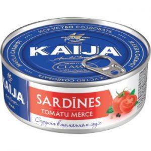 Sardīnes tomātu mērcē 240g Kaija