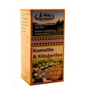 Tēja zāļu kumelīte&kliņģerītes 20x1.5g