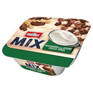 Jogurts Muller mix ar šokolādes zvaigznītēm 4.8% 130g