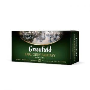 Tēja Greenfield melnā Earl grey fantasy 25gb 50g