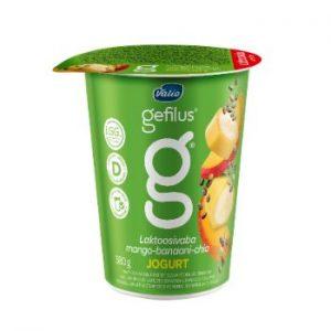 Jogurts Gefilus 2% mango-banāni-čia 380g